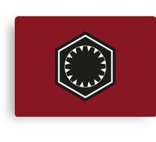 Star Wars First Order Logo Canvas Print