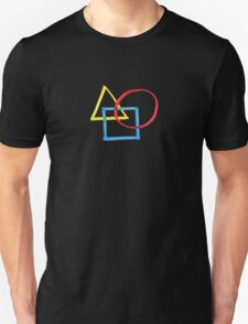 Yellow Triangle Red Circle Blue Square T-Shirt