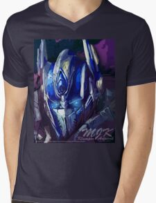 On This Night - TF AOE Optimus Abstract Mens V-Neck T-Shirt