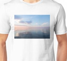 Silky Satin on the Lake - Blue and Pink Serenity  Unisex T-Shirt