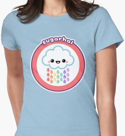 Rainbow Rain Cloud Womens Fitted T-Shirt