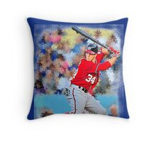 Bryce Harper Batting II Throw Pillow