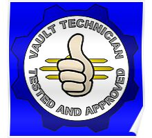 Nuclear Fallout Shelter Technician Thumbs Up Tested and Approved  Poster