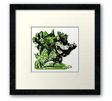 Bowser  -  Green Framed Print