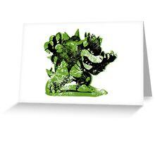 Bowser  -  Green Greeting Card