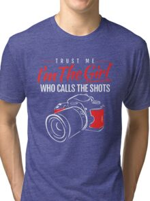 Photographer Girl Tri-blend T-Shirt