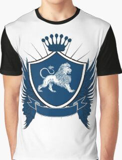 Blue Royal Crest With Lion Graphic T-Shirt