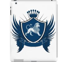 Blue Royal Crest With Lion iPad Case/Skin