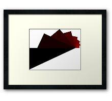 Trig - Red Framed Print