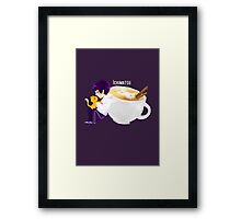 Ichimatsu latte Framed Print