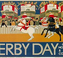 Vintage poster - Derby Day by mosfunky