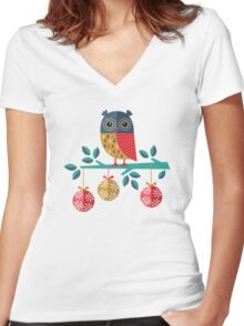 Whoo-Hoo It's Christmas! Women's Fitted V-Neck T-Shirt