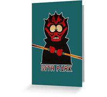 Darth Maul (Sith Park) Greeting Card
