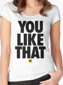 Redskins You Like That Cousins DC Football by AiReal Apparel Women's Fitted Scoop T-Shirt