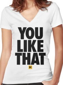 Redskins You Like That Cousins DC Football by AiReal Apparel Women's Fitted V-Neck T-Shirt