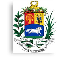 Coat of Arms of United States of Venezuela, 1864-1954 Canvas Print