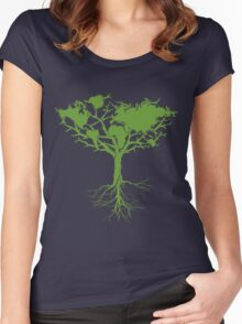 Earth Tree Women's Fitted Scoop T-Shirt
