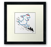 Da Bears - Running Framed Print