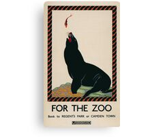 Vintage poster - London Zoo Canvas Print