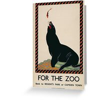 Vintage poster - London Zoo Greeting Card