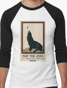 Vintage poster - London Zoo Men's Baseball ¾ T-Shirt