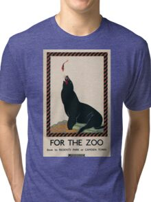 Vintage poster - London Zoo Tri-blend T-Shirt