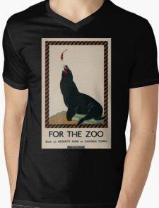 Vintage poster - London Zoo Mens V-Neck T-Shirt