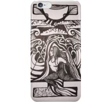 Mermaid pose inked iPhone Case/Skin