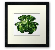 Venusaur used vine whip Framed Print