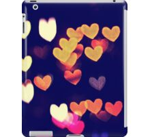 Colorful Hearts Bokeh Vintage Blue Yellow Orange I iPad Case/Skin