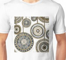 Xmas Baubles 6 -  Gelli Plate Print and Ink Unisex T-Shirt