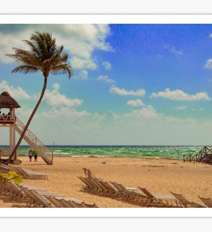 Beach Scene Sticker