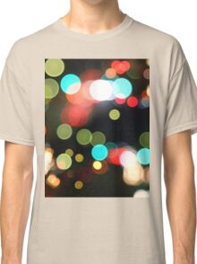 Abstract Colorful Round Bokeh Lights Classic T-Shirt