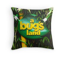 A BUGS LAND Throw Pillow
