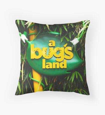 A BUGS LAND Throw Pillow