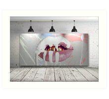 Kylie Jenner Lips Canvas Art Print