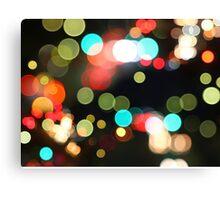 Abstract Colorful Round Bokeh Lights Canvas Print