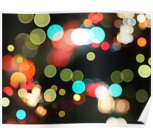 Abstract Colorful Round Bokeh Lights Poster