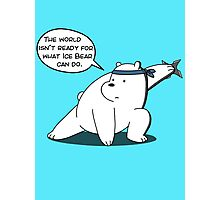 The world isn't ready for what Ice Bear can do - We Bare Bears - Cartoon Network Photographic Print