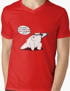The world isn't ready for what Ice Bear can do - We Bare Bears - Cartoon Network Mens V-Neck T-Shirt