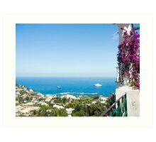 The Ocean view from Anacapri : Italy's Bay of Naples Art Print