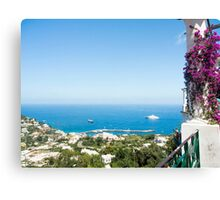 The Ocean view from Anacapri : Italy's Bay of Naples Canvas Print