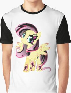 Goth Fluttershy Graphic T-Shirt