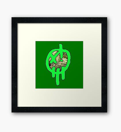 420 Xenzo Skunk Face Framed Print
