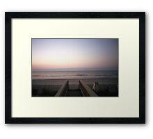 Beach Film Shot Framed Print