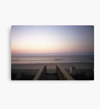 Beach Film Shot Canvas Print