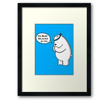 Ice Bear Believes In You - We Bare Bears - Cartoon Network Framed Print