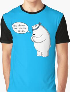 Ice Bear Believes In You - We Bare Bears - Cartoon Network Graphic T-Shirt