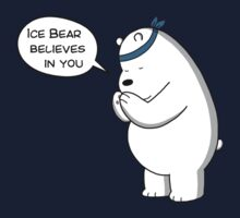 Ice Bear Believes In You - We Bare Bears - Cartoon Network Kids Tee