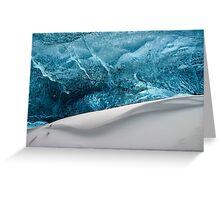 Snow Wave Greeting Card